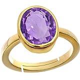#7: Gemorio Amethyst Katela 7.5cts or 8.25ratti Panchdhatu Adjustable Ring For Men