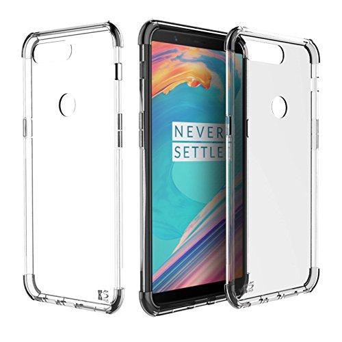 OnePlus 5T Hülle, KingShark Ultradünn TPU Schutzhülle Flexibel Silikon Case Cover Handyhülle Slimcase Rückschale OnePlus 5T - Transparent