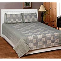 Home Designs Pure Cotton Quilt Cover/Duvet Cover with Zip Closure (90 X 90 Inch)