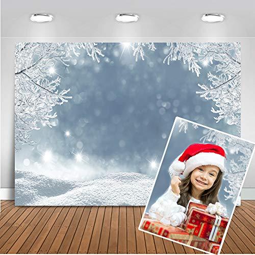 d Hintergrund 7x5ft Eiswald Schneeflocke Foto Kulissen Weihnachten Winter Fotografie Hintergrund ()