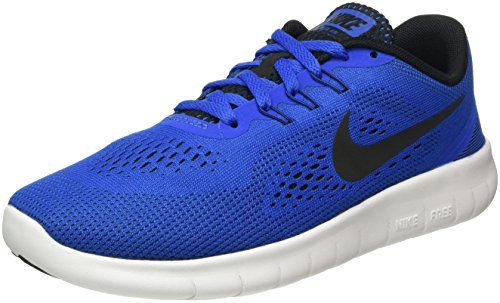 Nike Free Rn (Gs), Entraînement de course garçon Multicolore (Game Royal/Black-White)