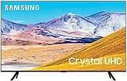 Samsung 82 Inch TV Smart Crystal UHD 4K processor Flat AI Upscale Motion Rate 120+ PQI 2100 HDR10+ Mega Contra