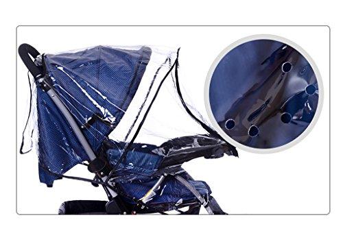 Habillage Imperméable Universel Poussette Protection Pluie et Vent pour Poussette Protection Pluie pour Poussette et Landeau Habillage-Pluie Couverture Anti Pluie Imperméable pour Poussette Mode Transparent
