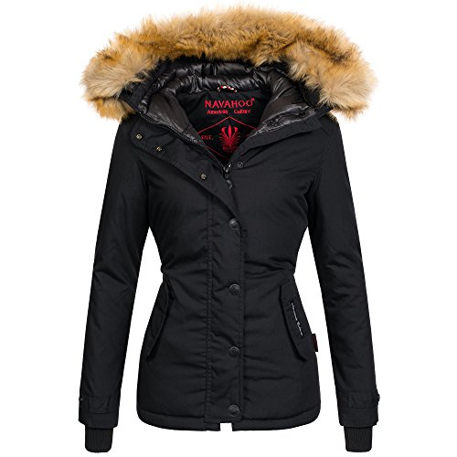 Navahoo warme Damen Winter Jacke Winterjacke Parka Mantel Kunstfell B392 4