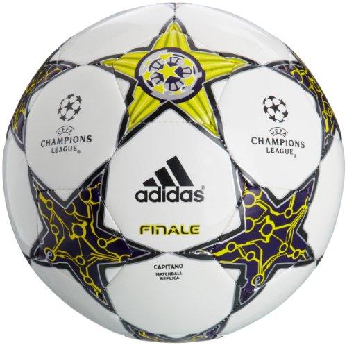 adidas Fussball Finale 12 Capitano, white/lab lime f12/dark violet f12, 5, W43120, -