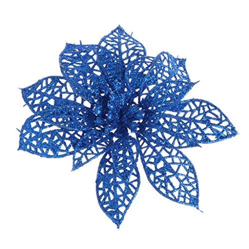 Xuniu Künstliche Glitter Hohl, Gefälschte Blume Für Weihnachten Hochzeit Festival Dekoration-Royal Blue (Blumen Blue Royal Gefälschte)