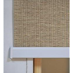 Persiana plafón de Bambú a medida color marrón claro