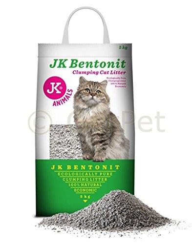 JK Bentonit Katzenstreu Einstreu Klumpstreu Katzen Kitten Streu 5 Kg klumpend