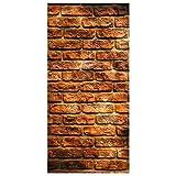 Flächenvorhang Set Bricks 250x120cm   Schiebegardine Schiebevorhang Raumtrenner Vorhang Raumteiler Gardine Paravent Wandbild XXL Deko Dekor   Größe HxB: 250x120cm inkl. transparenter Halterung