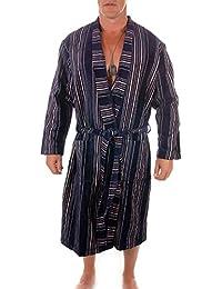 WeWo Fashion Herren Velours Bademantel Kimono / Saunamantel, in den Größen 48 bis 68, 9500-1590