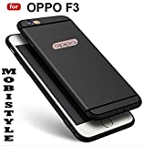 DISCOUNTED OFFER PRICE FOR OPPO F3 [MOBISTYLE] '360 Degree' Soft Silicone With Anti Dust Plugs Shockproof Slim Back Cover For OPPO F3 (BLACK WITH SHINING LINE)
