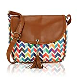 Kleio Women's Sling Bag (Eco2011Kl-M3 , Multicolor)
