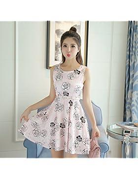 Verano vestidos moda coreana saika falda falda,M,Rosa