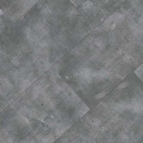 FTW Click 100% Waterproof Vinyl Tiles Grey Concrete Stone Tile Flooring Bathroom Kitchen Shower DIY Drop Lock Floor 1.49m2