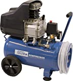 Güde 50127 260/10/24 ST Kompressor-Set (2 Manometer, 1 DL-Kupplung, 24l kessel, 170l/min Liefermenge, 10 bar, 7,5m Schlauch)