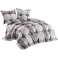 Class Home Collection Renforce algodón ropa de cama (Set Zara gris, 100% algodón