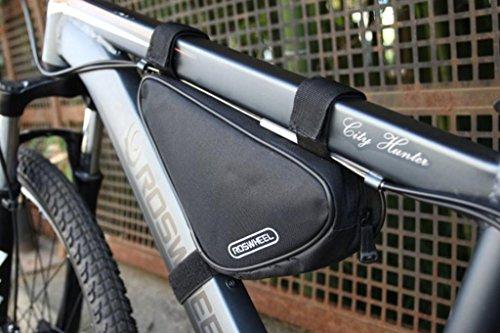 Tofern Fahrrad Radfahren Triangle Fahrradtasche Rahmentasche Oberrohrtasche Fahrradtaschee vorne - 1.5L, 8 Farben Schwarz