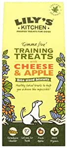 Lily's Kitchen Training Treats with Cheese and Apple for Dogs 100g (Pack of 4) (Organic)
