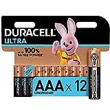 Duracell Ultra AAA con Powercheck, Batterie Ministilo Alcaline, Confezione da 12 Pacco del Produttore, 1.5 V, LR03 MN2400