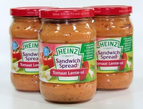 Heinz – Sandwichspread Tomate Schalotte – 3 x 300 Gramm