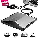 Externes DVD Laufwerk, BOSLISA USB 3.0 CD Brenner, 100% Neu Chip Superdrive für Laptops, Unterstützt Windows 10/8/7/XP/Mac OS
