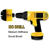 OxoxO HSS-Bürste - Round Power Drill Attachment Medium Stiffness Scrubbing Scrub Cleaning Brush for Cleaning Bathroom, Tile and Grout, Showers, Carpet, Tires, Boats