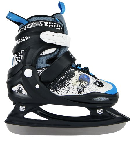 Playlife Kinder Eisskate Billy Adjustable, schwarz-blau, 30-33