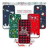 Freessom Noël Lot de 5 Coque iPhone 6 plus/6s Plus Silicone Couleur Mat Souple Motif...