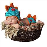 Babymoon (Set of 2) Dinosaur Designer Crochet Clothing, Beautiful Costume, Baby Photography Props/