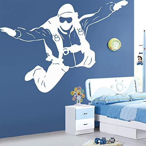 zqyjhkou L'astronaute Sticker Mural bébé Chambre d'enfant Chambre Espace fusée Lune Sticker Mural pour Enfants Chambre Salon Vinyle décor à la Maison Art M 30 cm X 42 cm