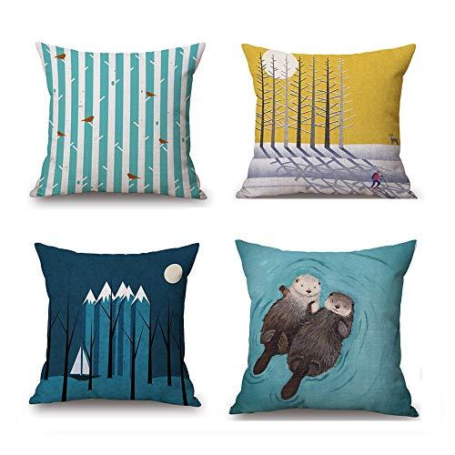 Funda de almohada Funda de almohada de 4 piezas Patrón de ...
