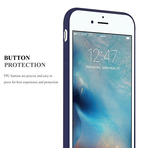 Cadorabo - Ultra Slim TPU Candy Coque Etui Housse Gel (silicone) pour Apple iPhone 7 - Coque Case Cover Bumper en CANDY-BLEU-FONCÉ CANDY-BLEU-FONCÉ