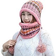Bobble De Invierno Elegante Sombrero De Cálido Bufanda Ocasional Ocio  Conjunto Acogedor Moda Snowboard De Punto 2347e32b5a0