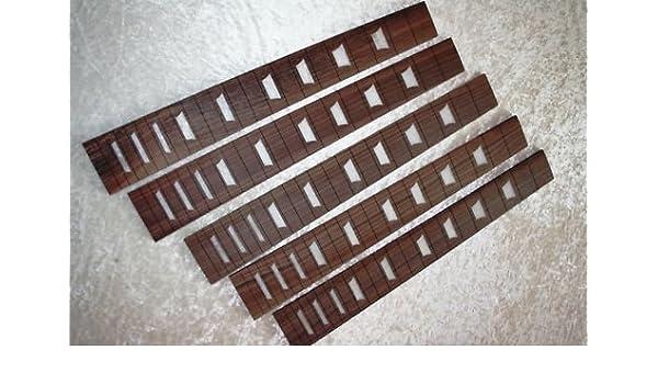 "1 Palisander Griffbrett fretboard crown inlays Les Paul 12 /"" Radius Gitarrenbau"