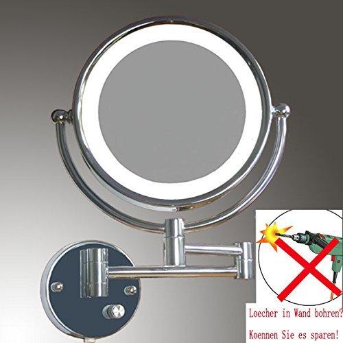 LOYWE LED Beleuchtet Kosmetikspiegel 1+7F hochwertig ohne Bohren LWW57-7-NB New