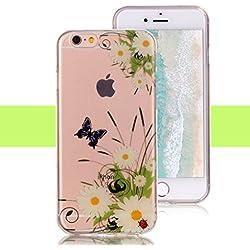 c9ae123cc90 Funda iPhone 6S, Yunbaozi iPhone 6 Cover Carcasa de Silicona Suave  Transparente Protective Case *