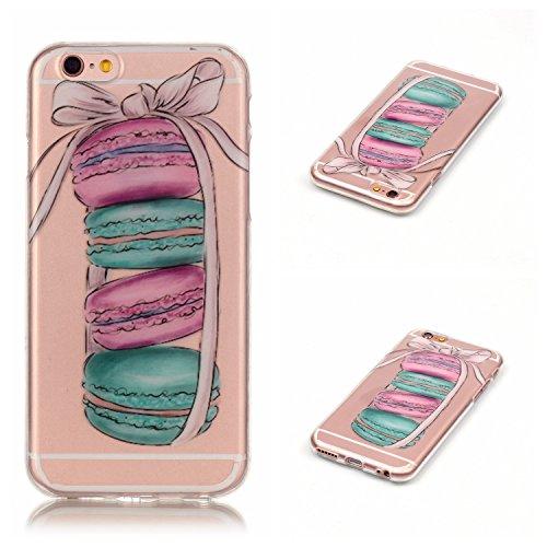 Qiaogle Téléphone Coque - Soft TPU Silicone Housse Coque Etui Case Cover pour Apple iPhone 5C (4.0 Pouce) - XS16 / Bleu Papillon XS13 / Pink bowknot + Gâteau