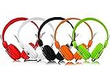 Lamex LTC58 Bunte Kopfhörer Headset 7 Farben weiß/grün/schwarz/orange/rot (Orange)
