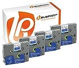 Bubprint 4 Schriftbänder kompatibel für Brother TZE-531 TZE 531 für P-Touch 1280 2430PC 2730VP 3600 9500PC 9700PC D400VP D600VP H100LB H105 P700 P750W