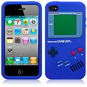 iPhone 4 / iPhone 4G Gameboy Style Silicone Skin Case / Cover / Shell - Blue