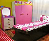 Snuggle Suave Pink Rose Print Styled Sin...