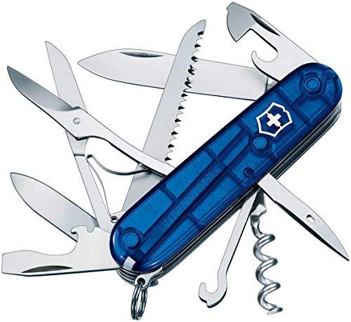 Victorinox Taschenmesser Huntsman (15 Funktionen, Schere, Holzsäge, Korkenzieher) Blau