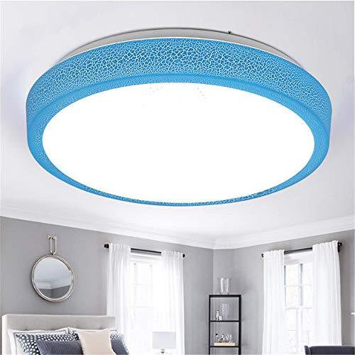 Led deckenleuchte warm romantisch einfach schlafzimmer lampe rund balkon lampe kinderzimmer beleuchtung riss blau - warmweiß licht durchmesser 28cm12w -