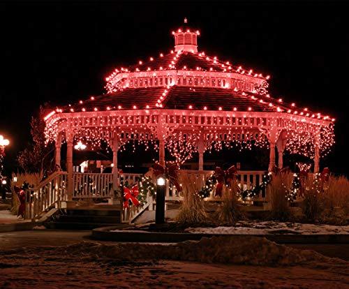 220 led tenda luminosa luci natalizie per interni e esterni rosso