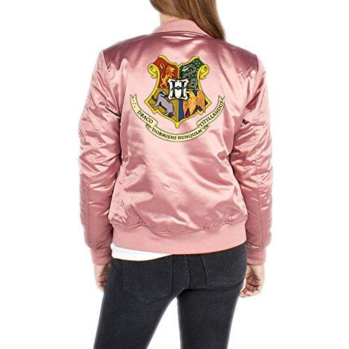 Hogwarts Shield Bomberjacke Girls Rosa Certified Freak-XL