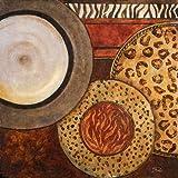 Feeling-at-home-Kunstdruck-Afrikanische-Kreise-II-cm81x81-Poster-fuer-Rahmen