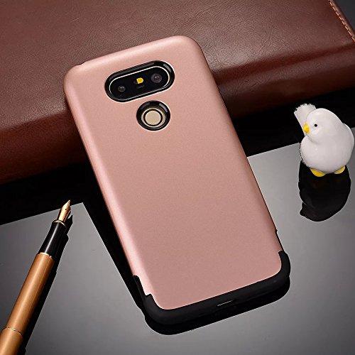 YHUISEN LG G5 Case, 2 In 1 PC + TPU Rüstung Hybrid Dual Layer Schutz Schock Absorption Hard Back Cover Case für LG G5 ( Color : Rose Gold ) Rose Gold