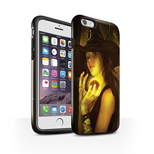 Officiel Elena Dudina Coque / Brillant Robuste Antichoc Etui pour Apple iPhone 6S / Orbe/Sorcellerie Design / Magie Noire Collection Orbe/Sorcellerie