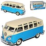 VW Volkswagen T1 Blau Weiss Samba Bully Bus 1950-1967 1/25 1/24 Maisto Modell Auto mit individiuellem Wunschkennzeichen