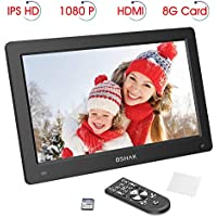 11.6 Inch Digital Photo Frame, IPS HD 1920x1080 Electronic Album, Motion Sensor, MP3 Music and Video Playback, Auto On/Off Timer (Black)